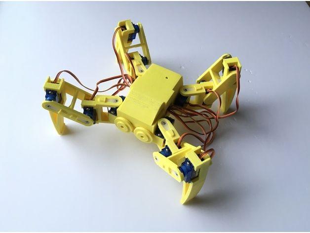 12自由度3D打印四足机器人