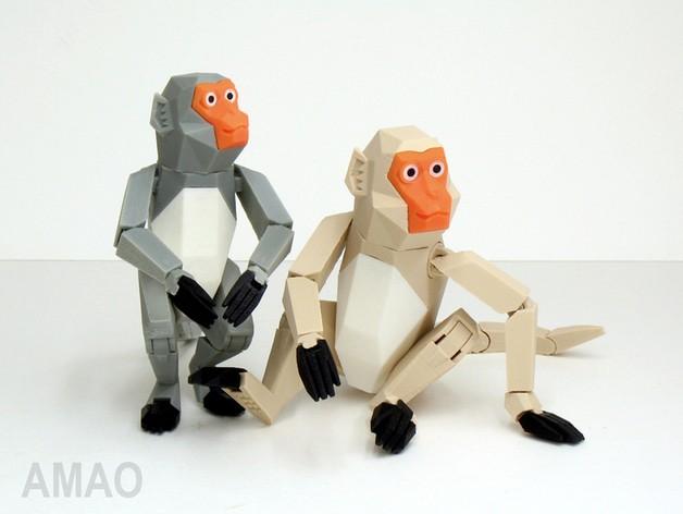 台湾猕猴模型