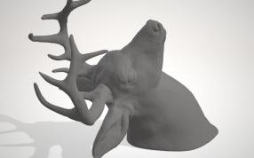 鹿頭打印模型