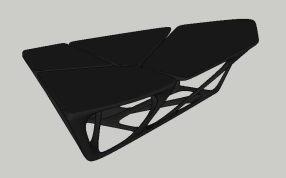 异形结构桌子三维模型