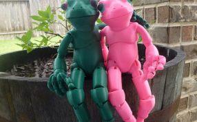 3D打印球形青蛙娃娃